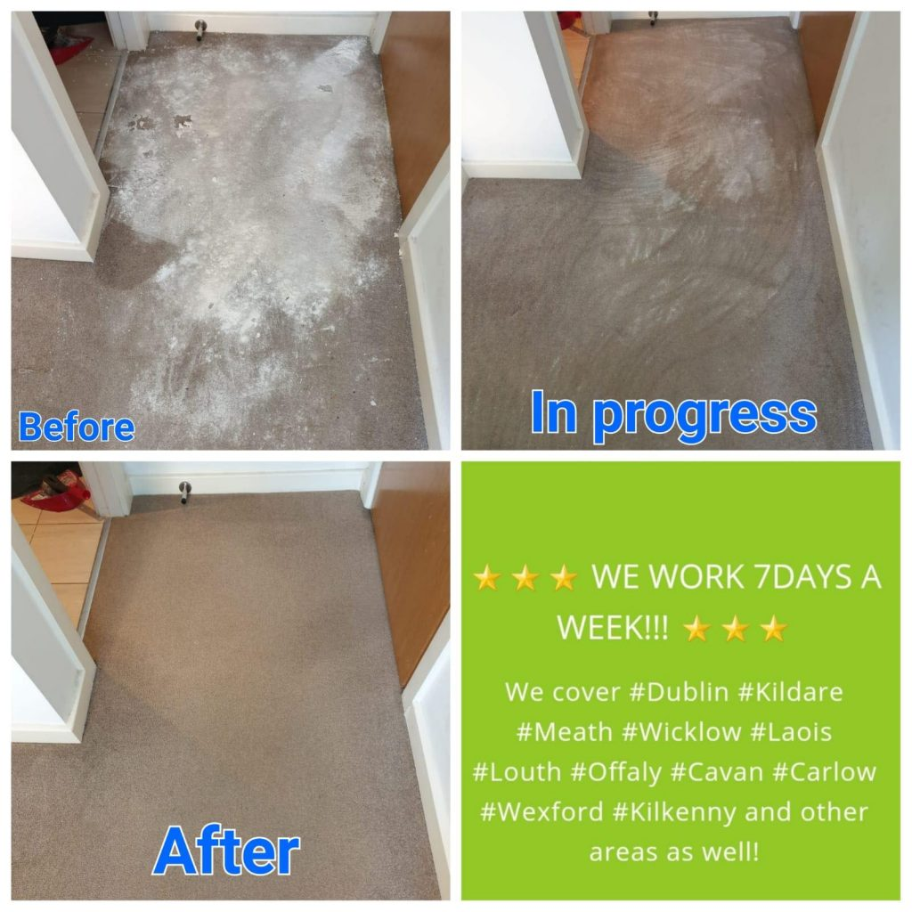 after renovations carpet cleaning