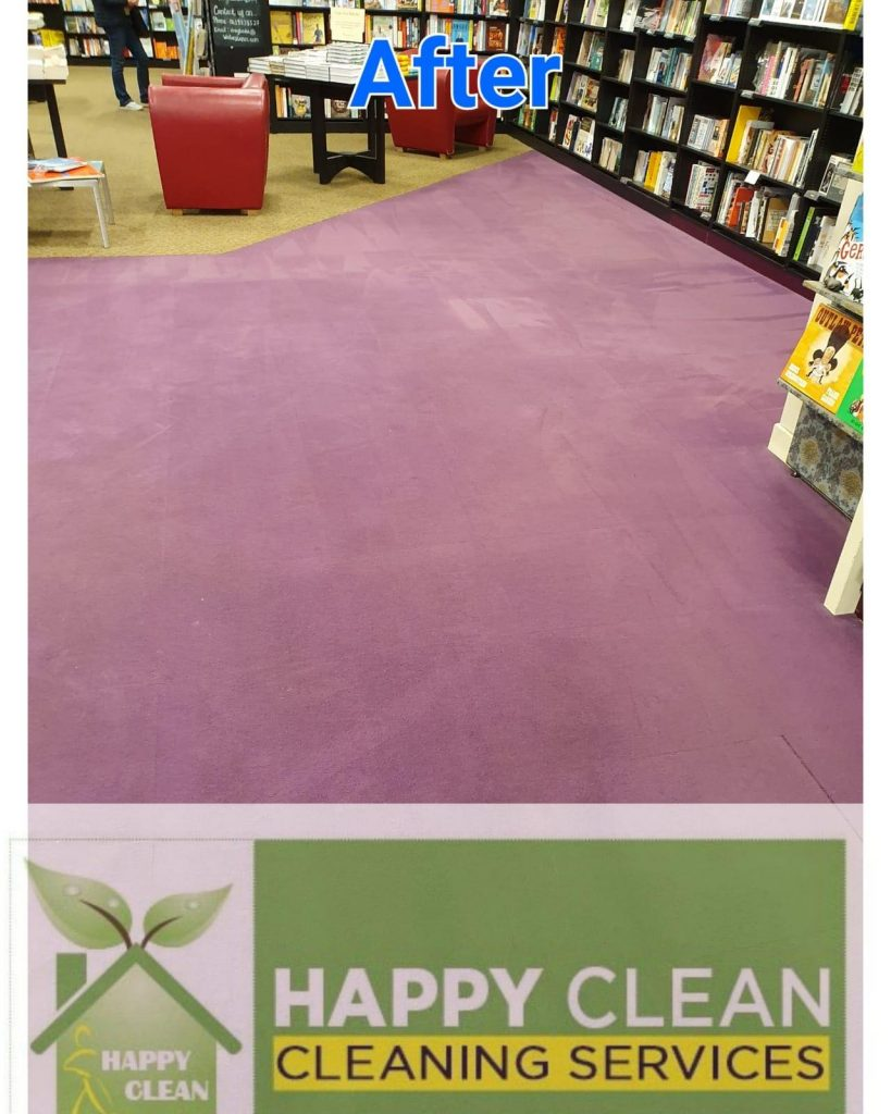 bookshop carpet after cleaning