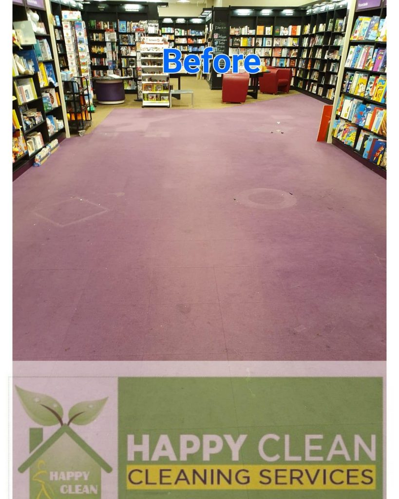 bookshop carpet before cleaning