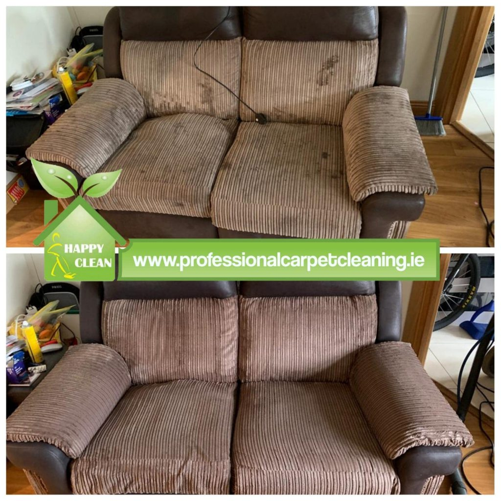 Brown corduroy sofa cleaning
