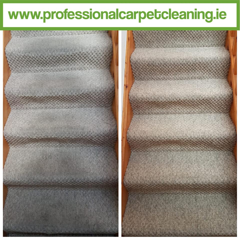 carpet cleaned on stairs and landing