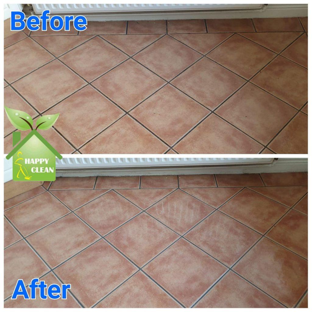 Ceramic tile cleaned