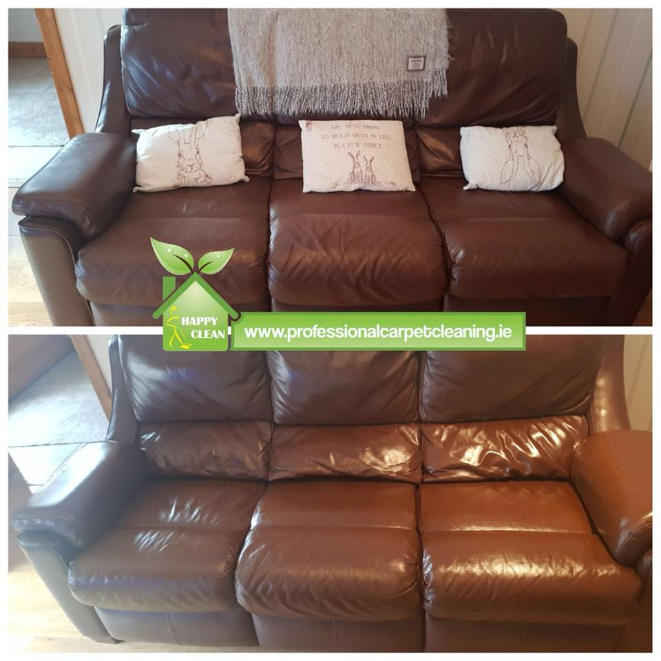 Cleaning brown leather sofa | Upholstery