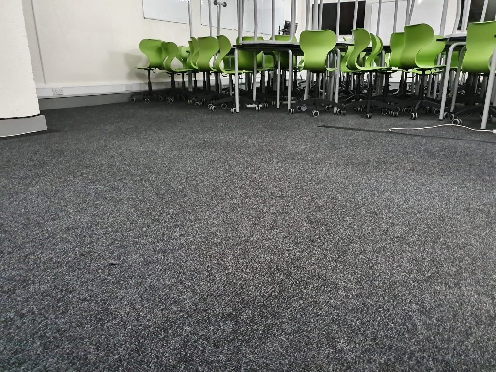 commercial office carpet cleaned