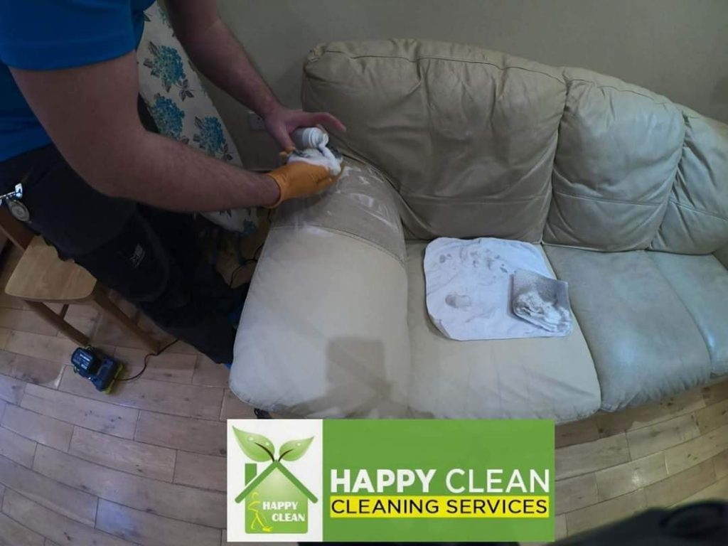 Cream upholstery cleaning
