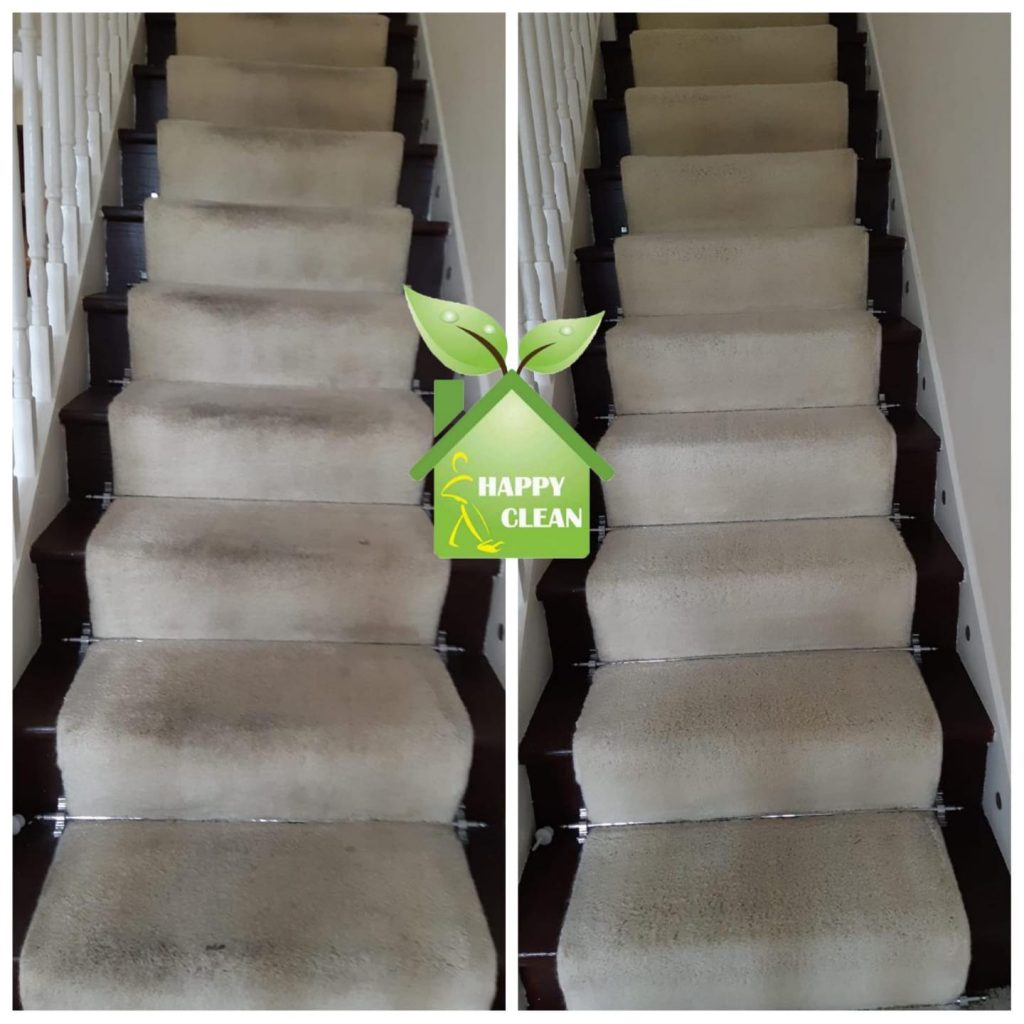 cream stairs carpet cleaned