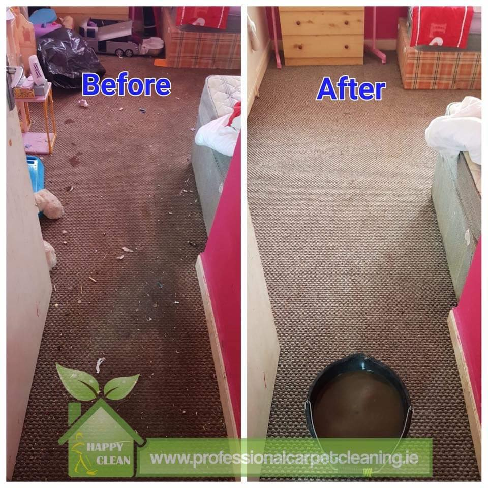 dirty bedroom carpet cleaning before and after