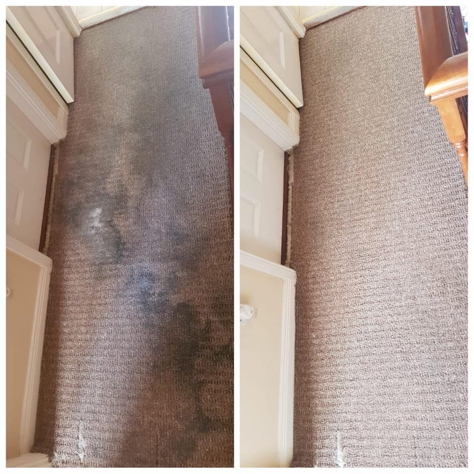 dirty clean carpet