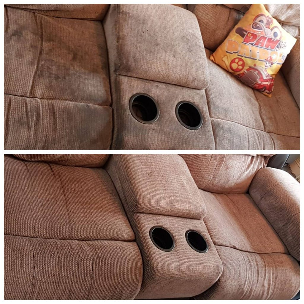 Dirty upholstery cleaning