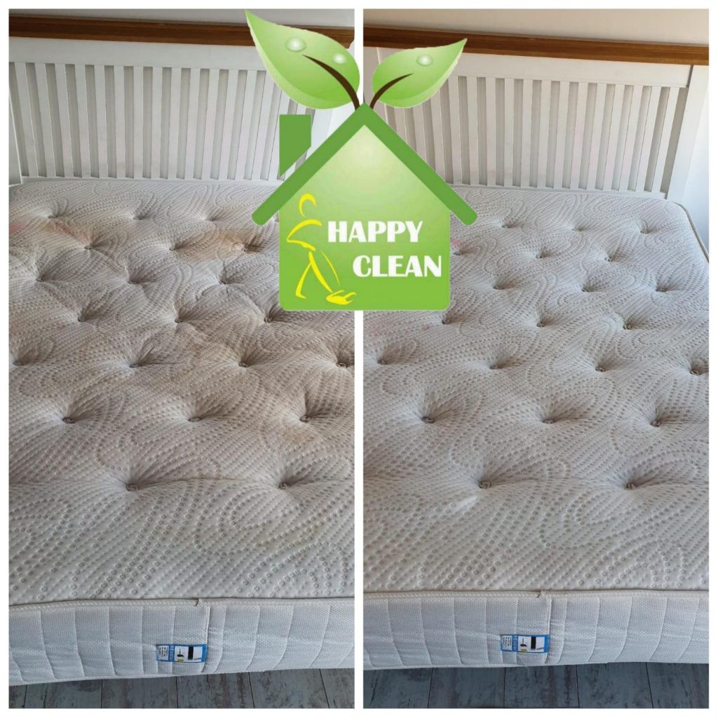 Double mattress cleaning - before and after