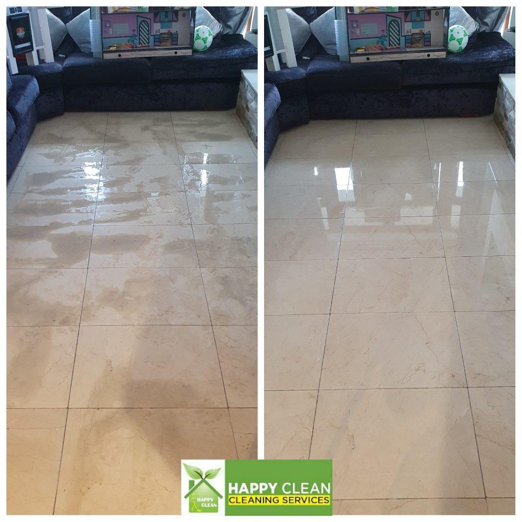 Floor cleaned
