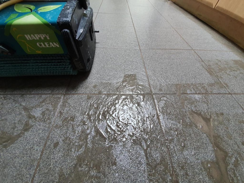 Floor cleaning process