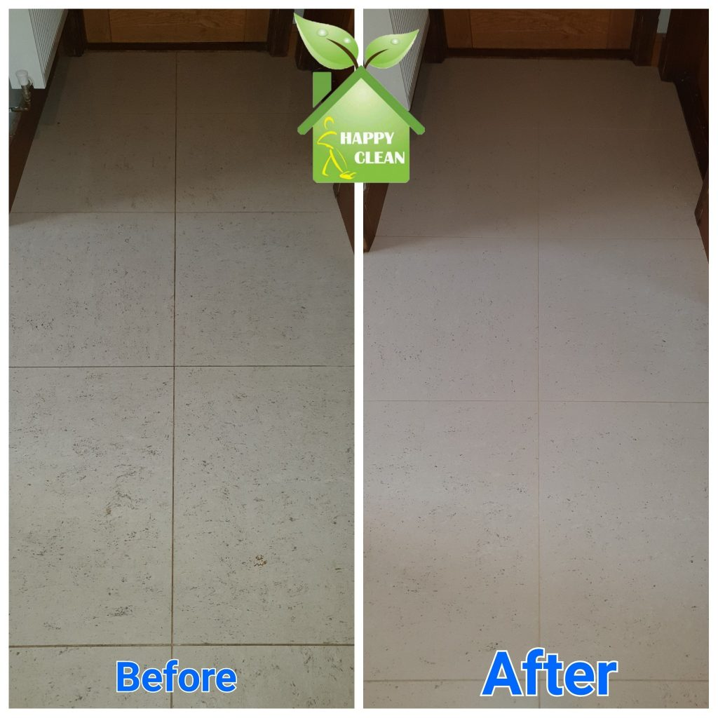 Floor cleaning before and after