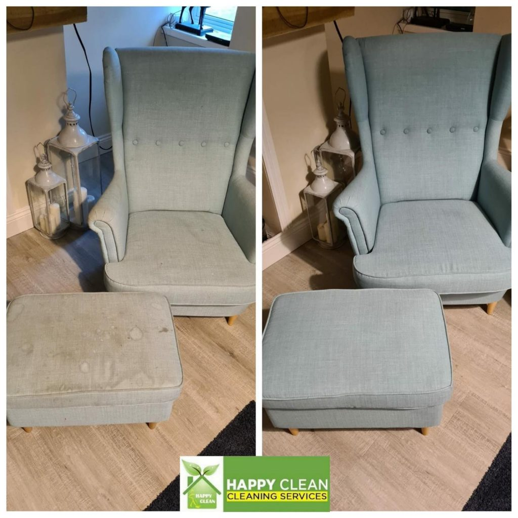 Gray IKEA chair cleaned