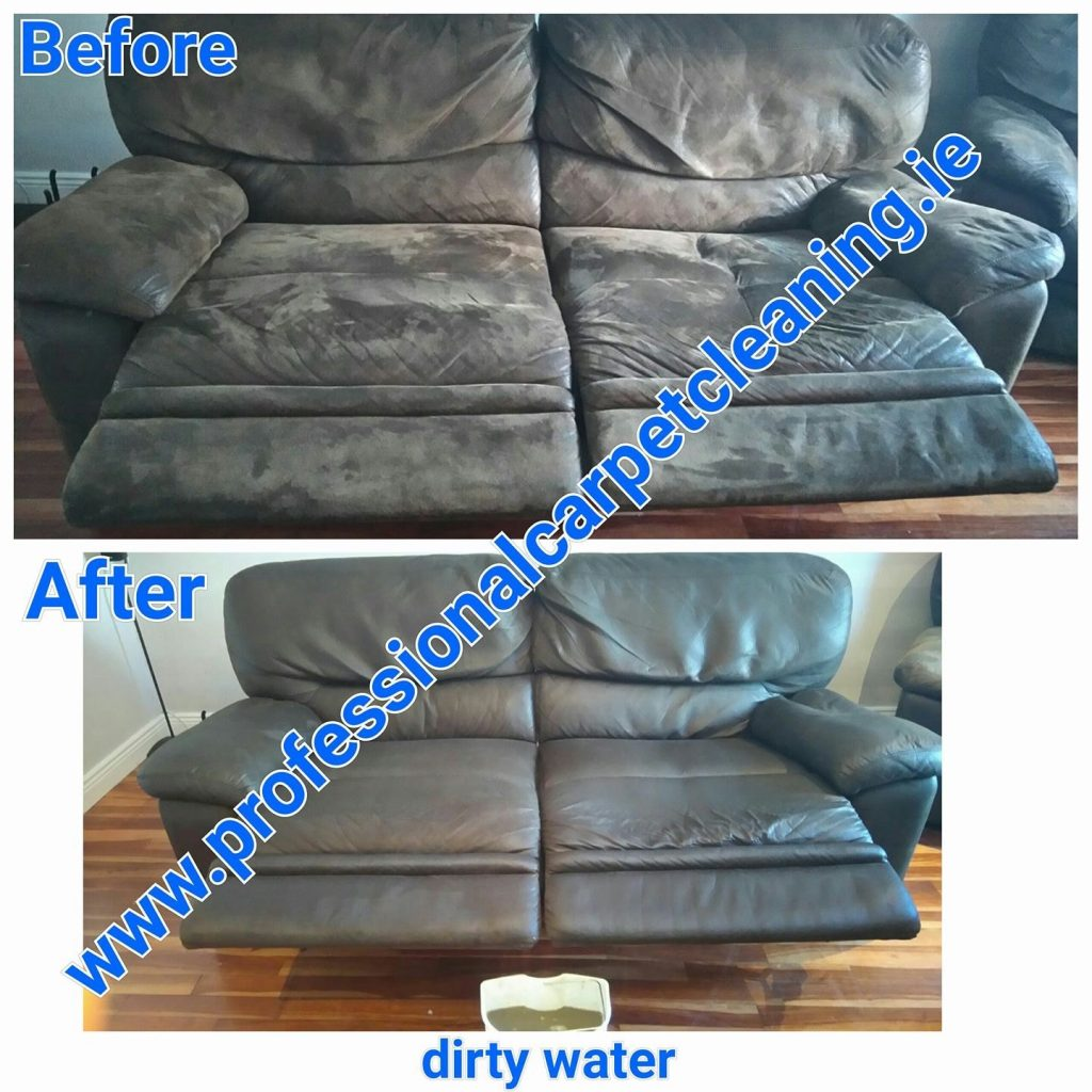 Gray suede sofa cleaning