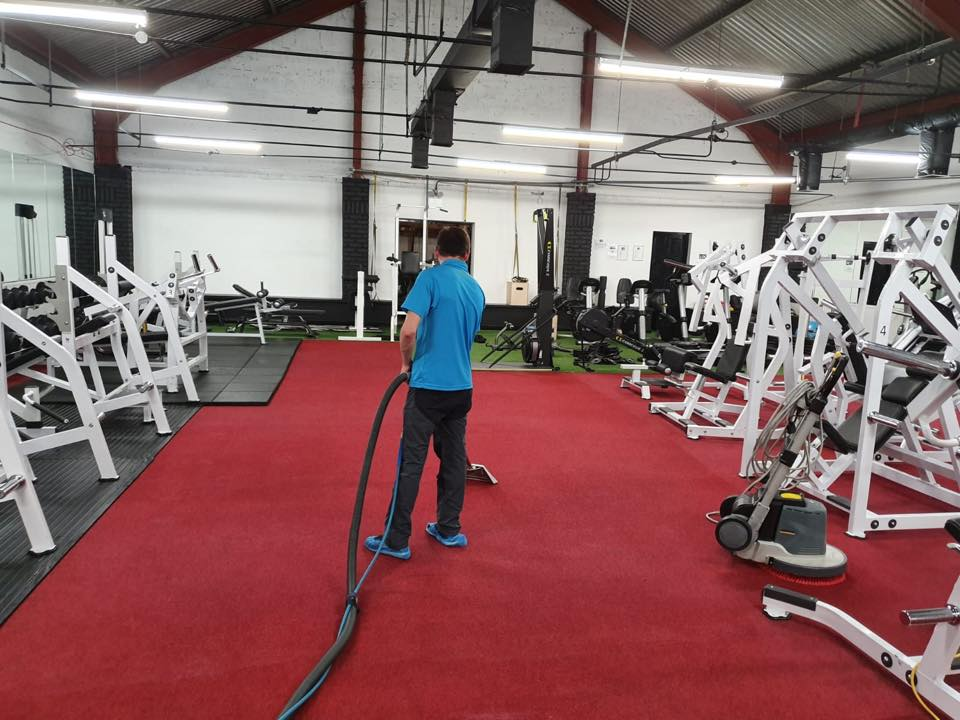 gym red carpet cleaning