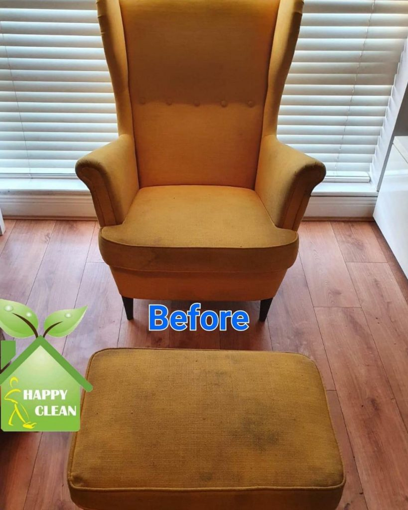 IKEA chair before cleaning