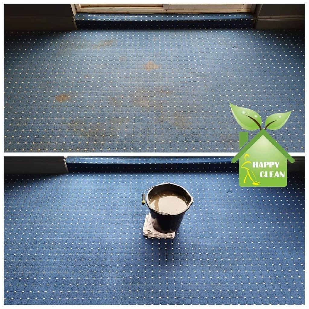 living room carpet cleaning | Before & After