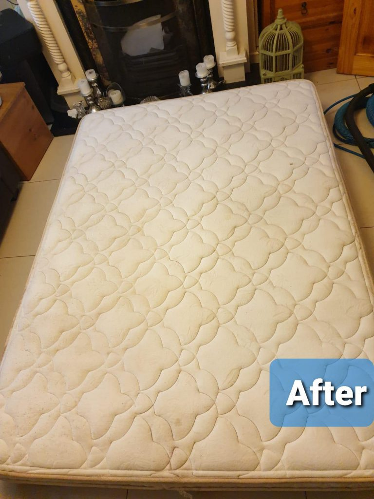 Mattress cleaned