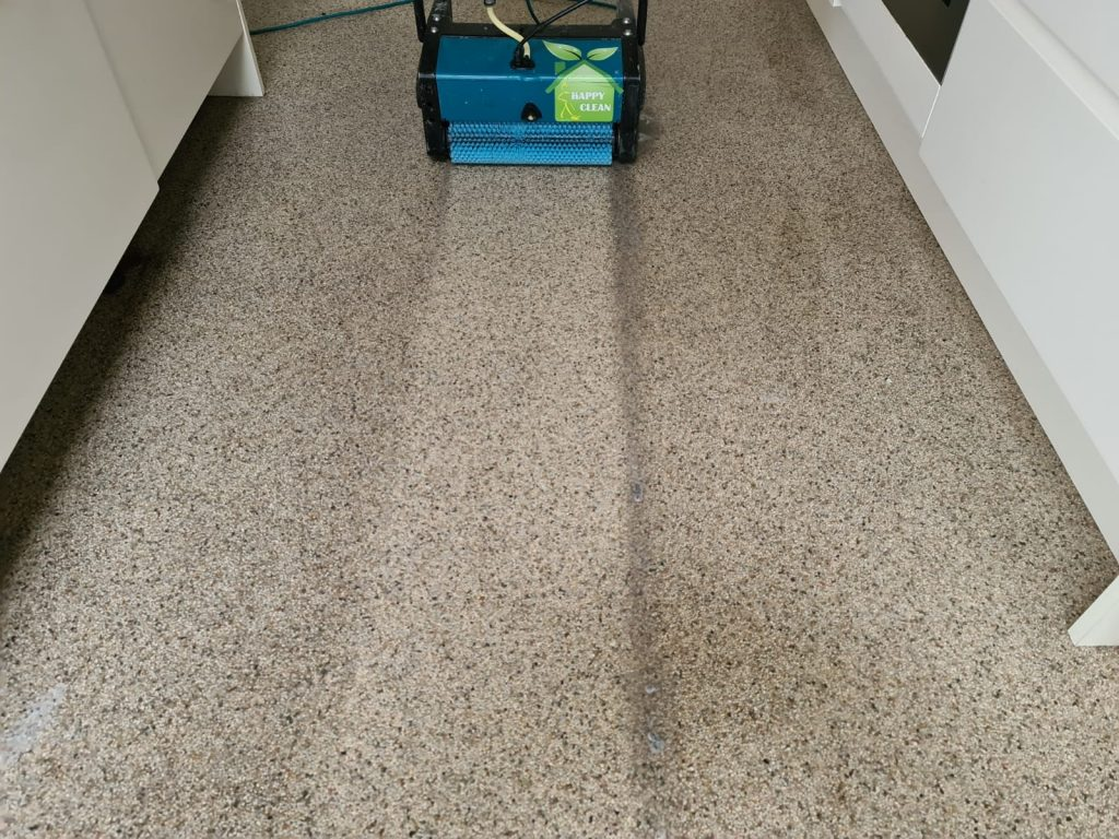 Natural stone carpet cleaned