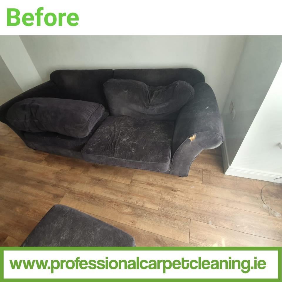 Pet hair sofa cleaned