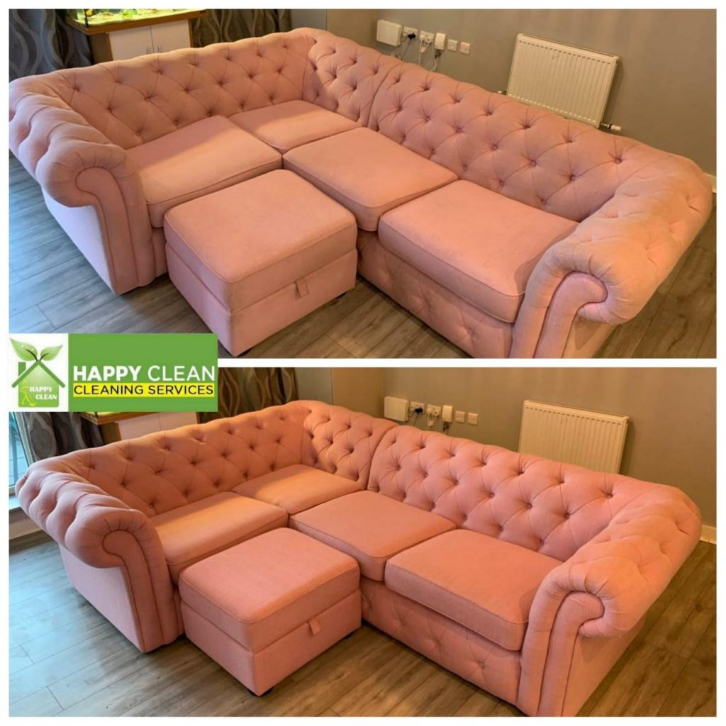 Pink sofa cleaning