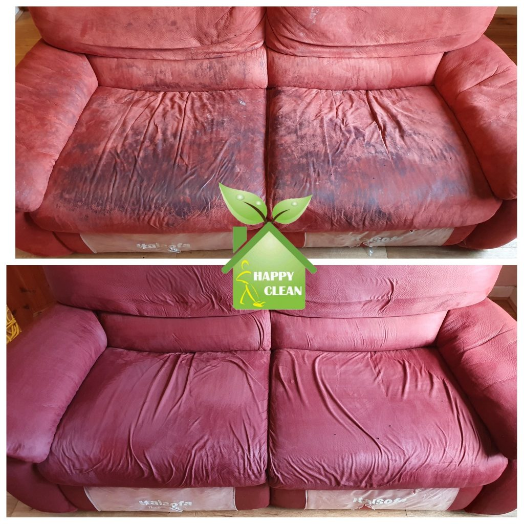 Red upholstery cleaning