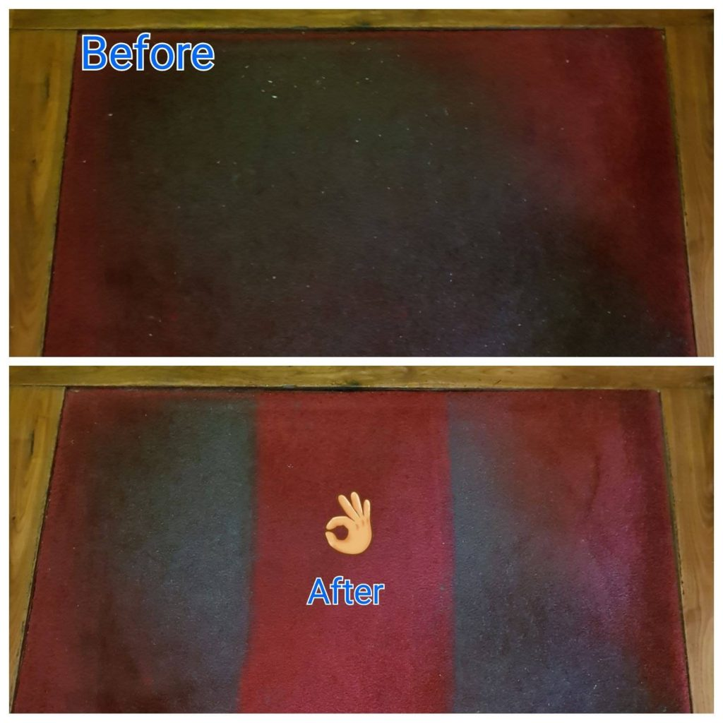 restaurant mat cleaning - before and after