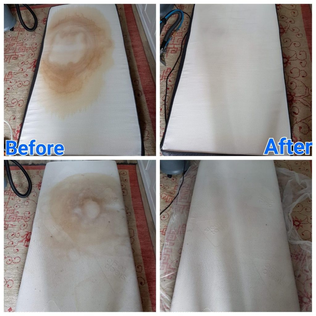 Before and after cleaning in 4 pics