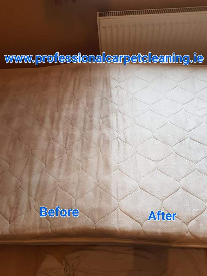 Stain and dirt removed from mattress