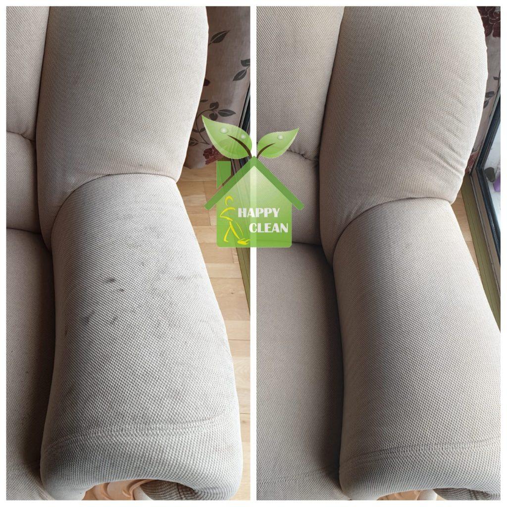 Sofa cleaned