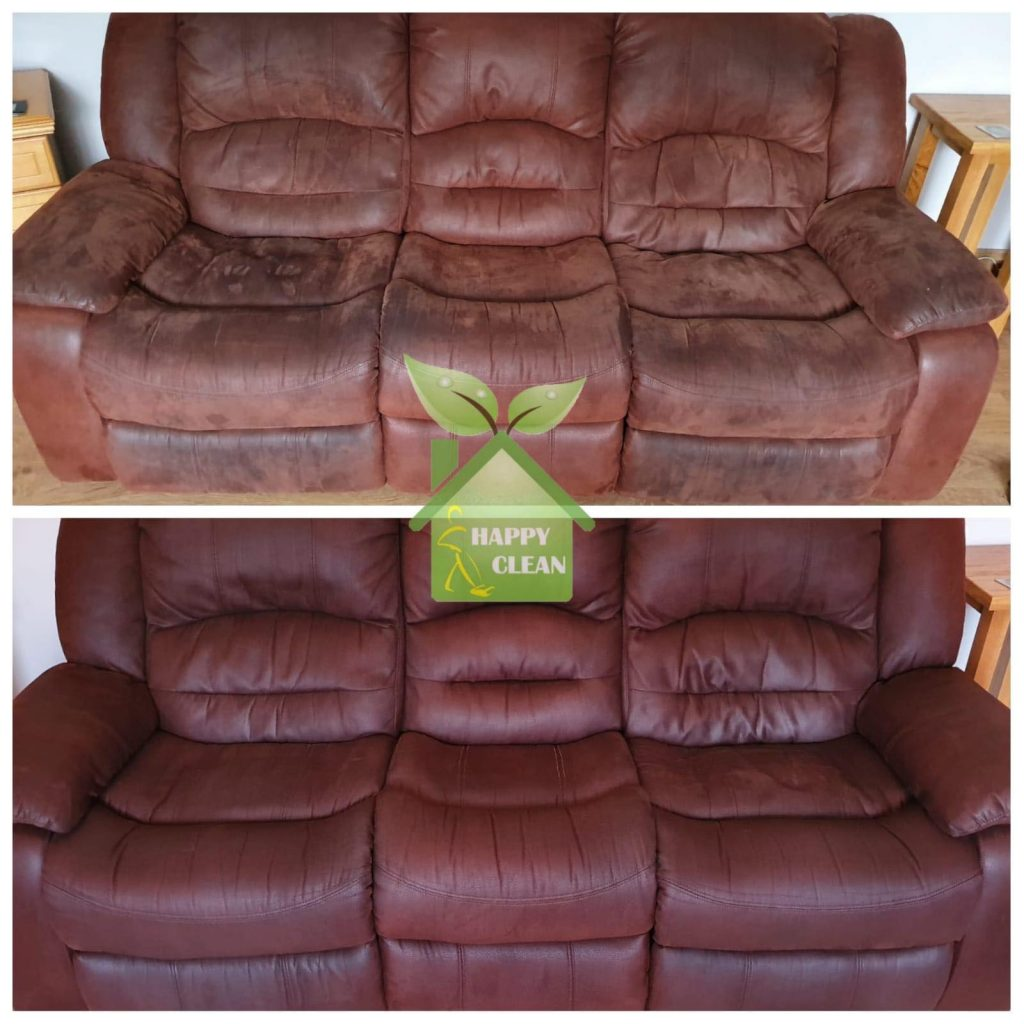 Brown Sofa cleaned