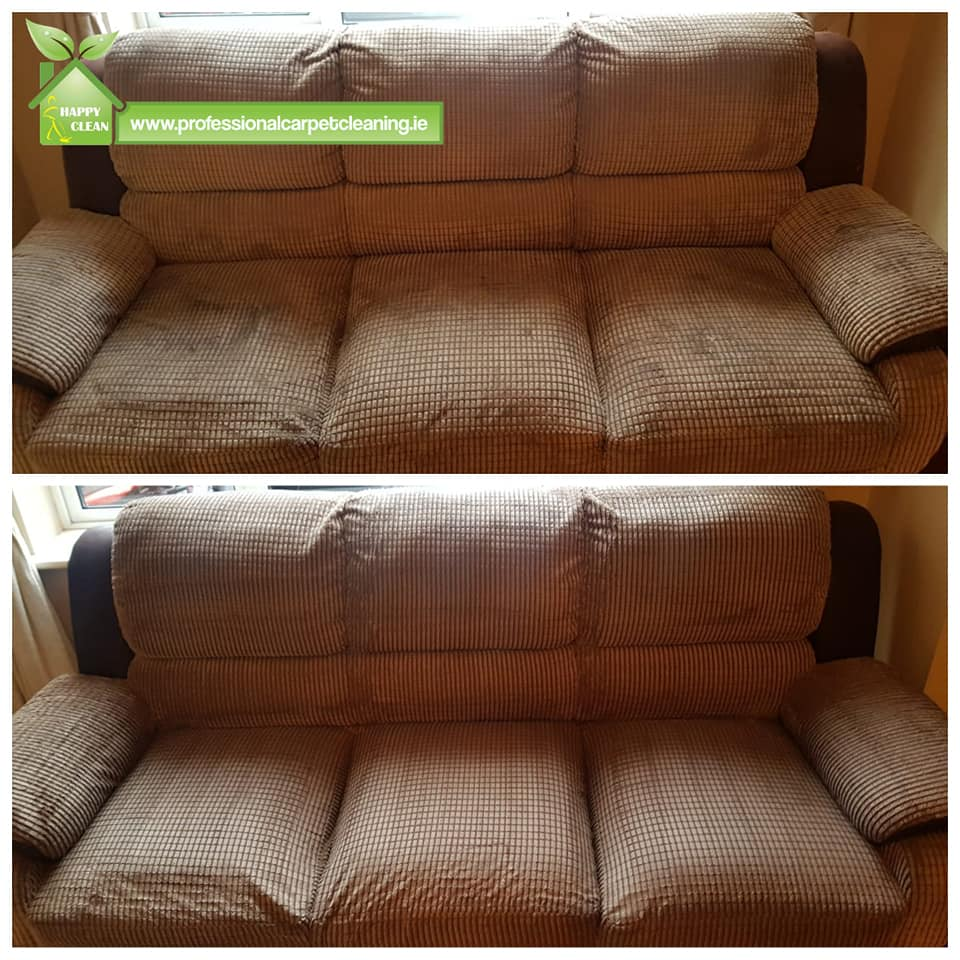 Sofa upholstery cleaned professionally