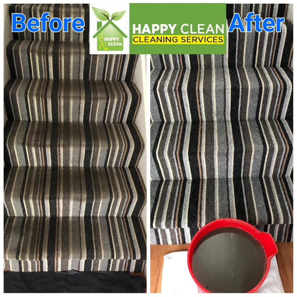 stairs landing carpet cleaning