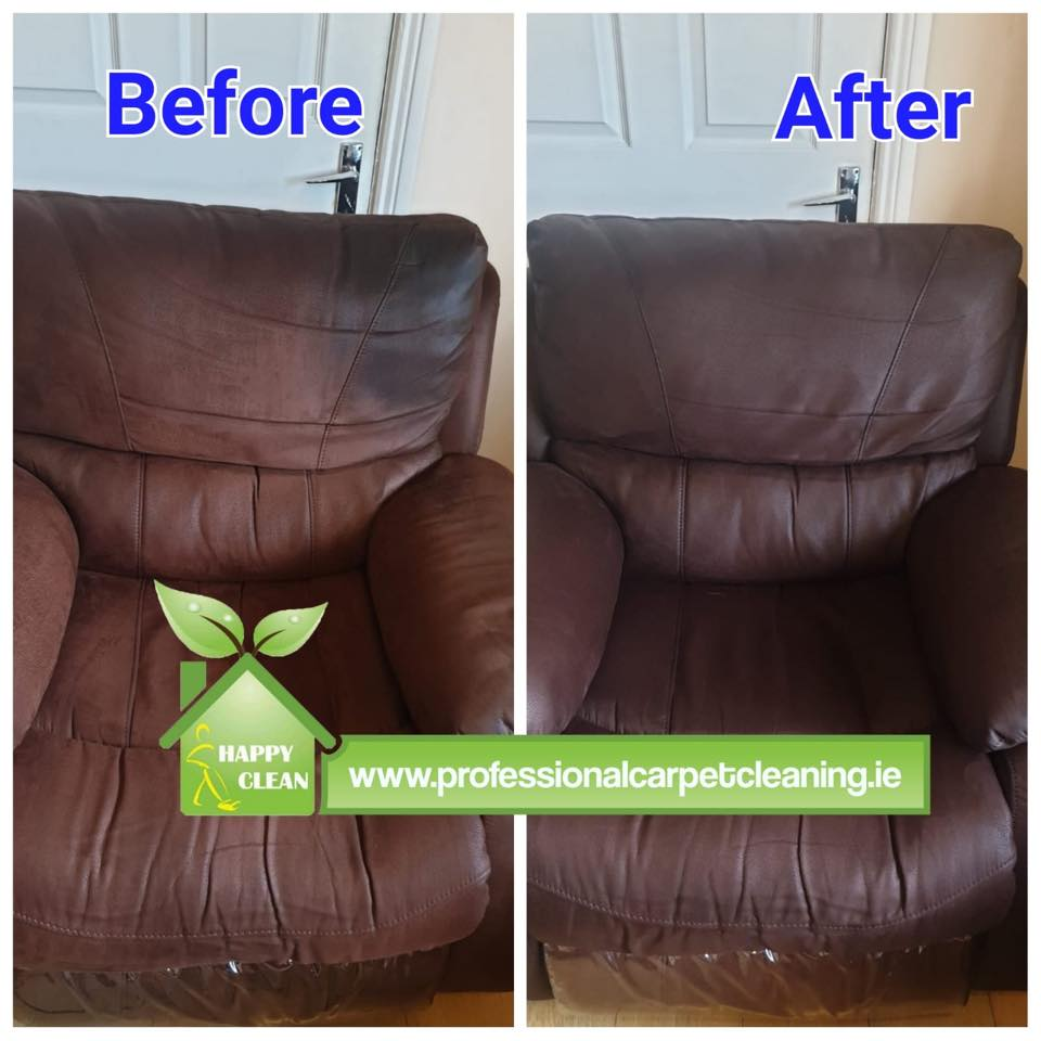 Suede armchair cleaning