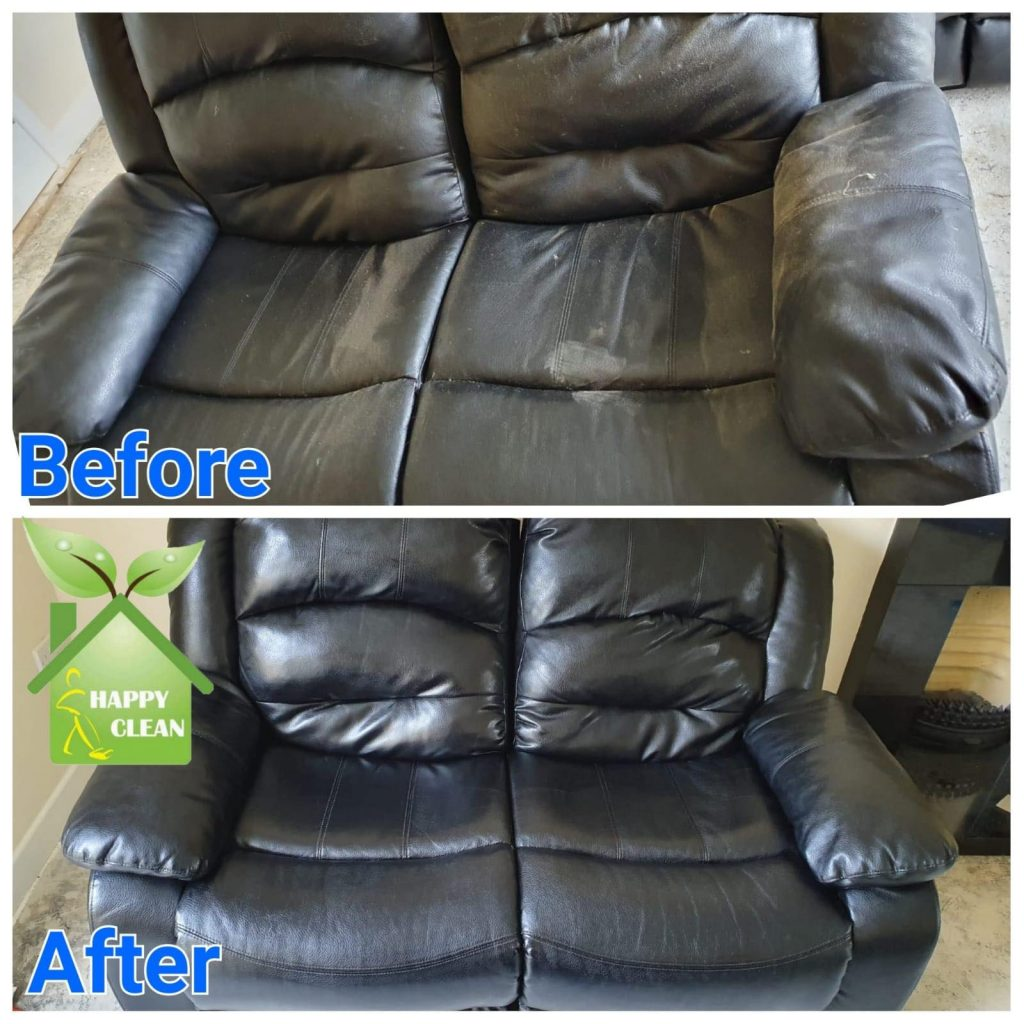 Two-seater leather cleaned