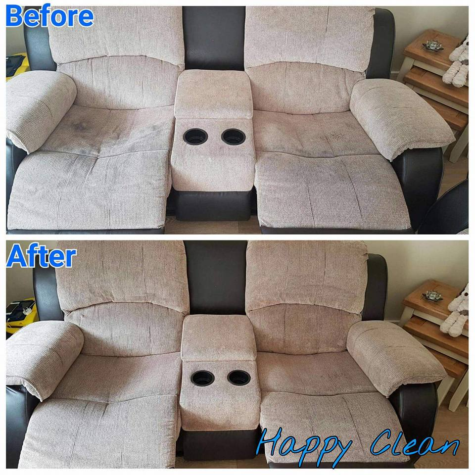 Upholstery cleaned