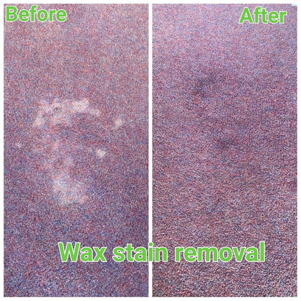 wax stain removal carpet